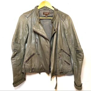 Danier Leather Grey Moto Jacket